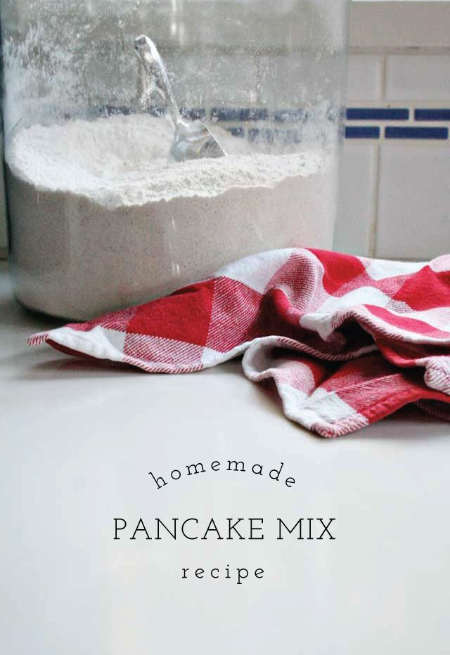 homemade pancake mix recipe.