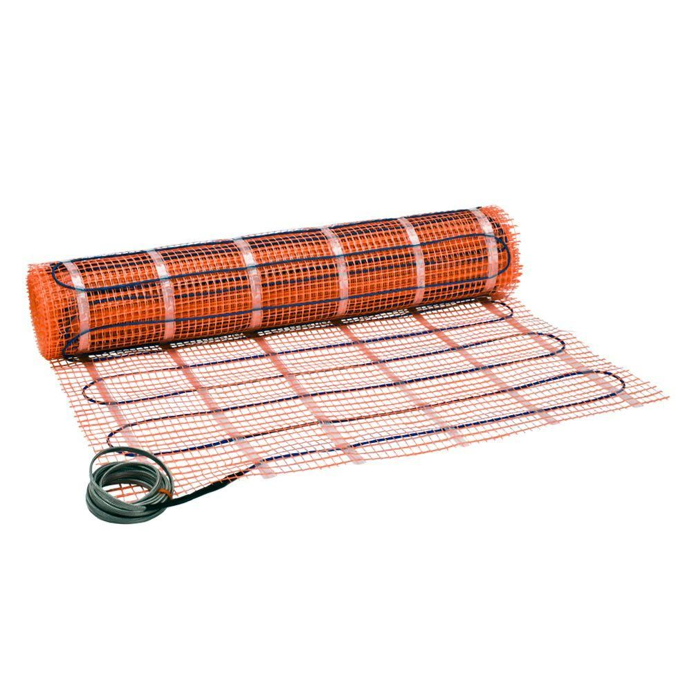 Suntouch Floor Warming 14 Ft X 30 In 120 Volt Radiant Floor Heating Mat Covers 35 Sq Ft 12001430r The Home Depot Radiant Floor Radiant Floor Heating Underfloor Heating Mats
