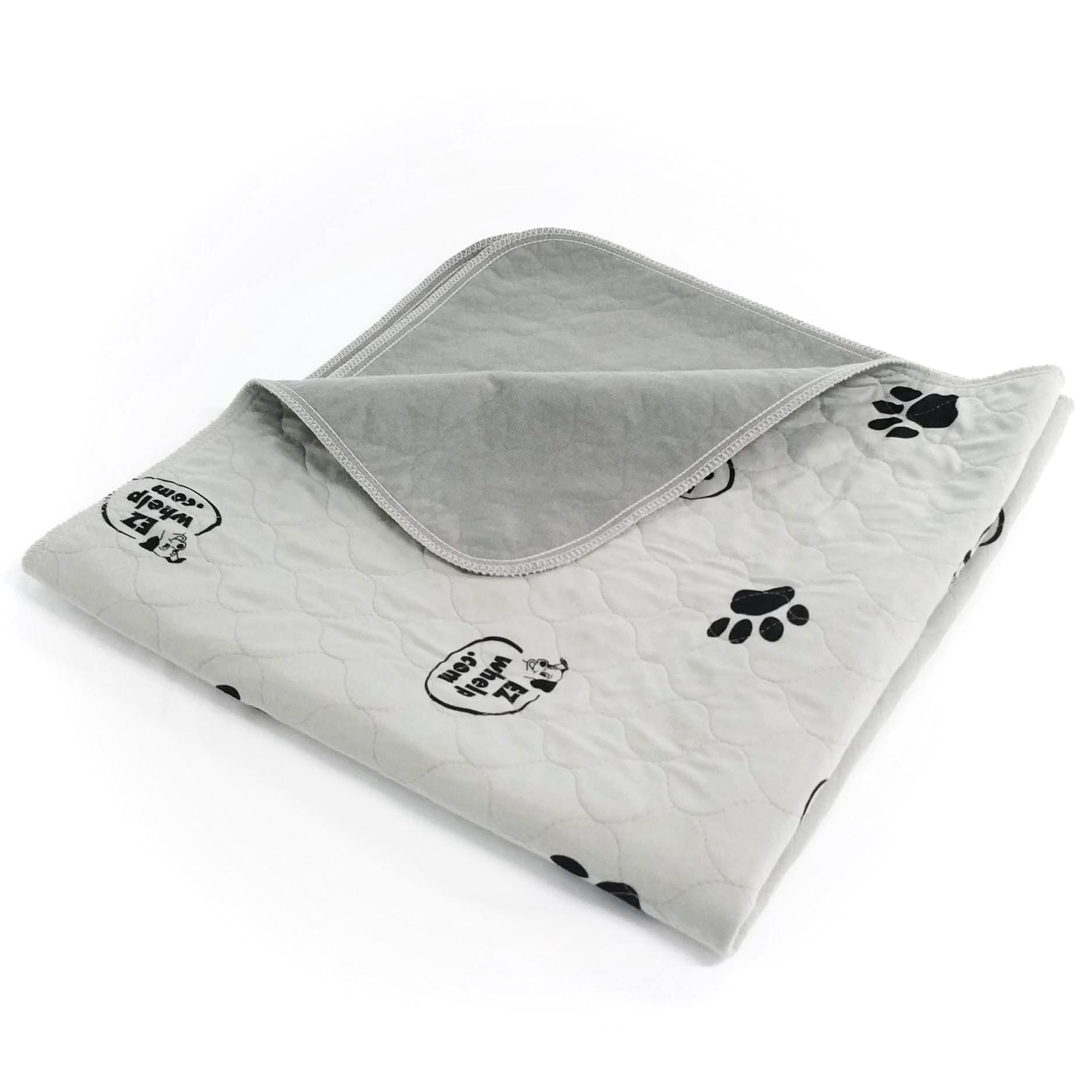 Gray Paw Print Pad/Mat Dog crate pads, Whelping box