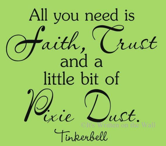 Tinkerbell quote walt disney all you need is a little pixie dust tinkerbell quote walt disney all you need is a little pixie dust vinyl lettering wall voltagebd Choice Image