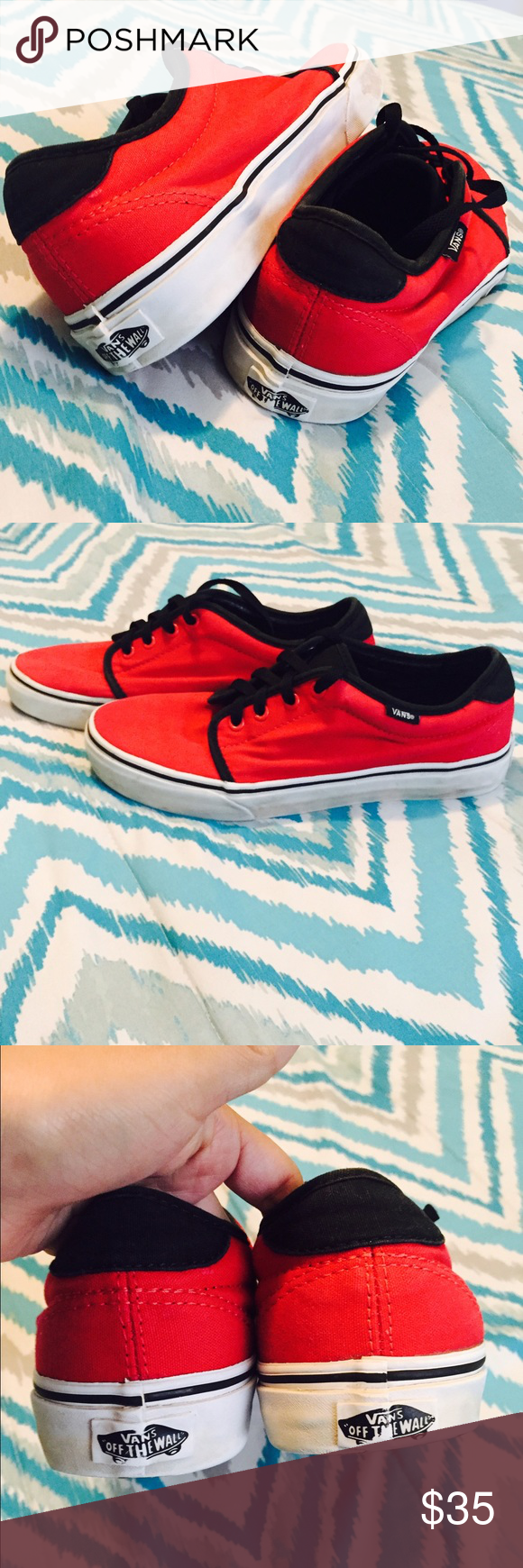 Red Vans Great conditions Vans Shoes Athletic Shoes
