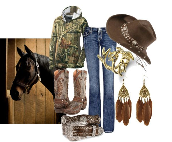Camo Cowgirl, created by idahocowgirl on Polyvore