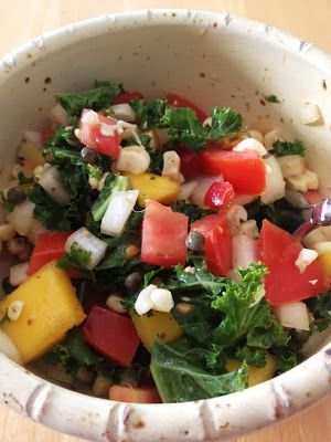 To Market, To Market with San Diego Foodstuff: Spicy Kale, Corn, and Mango Salad from @Caron Golden