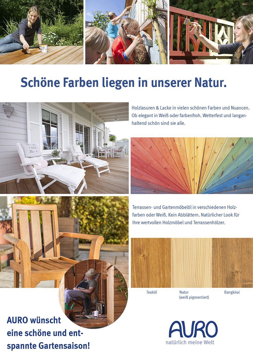 Farben Der Saison Holz Im Garten Auro Naturfarben Hersteller