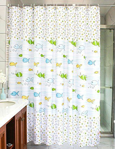 Kids Bathroom Decor MangGou Fabric Shower CurtainFunny Curtain LinerWaterproof Polyester With 12 Hooksfor Boys Girls