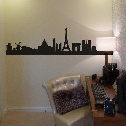 Photo of East Urban Home Wall Stickers Paris Skyline   Wayfair.de