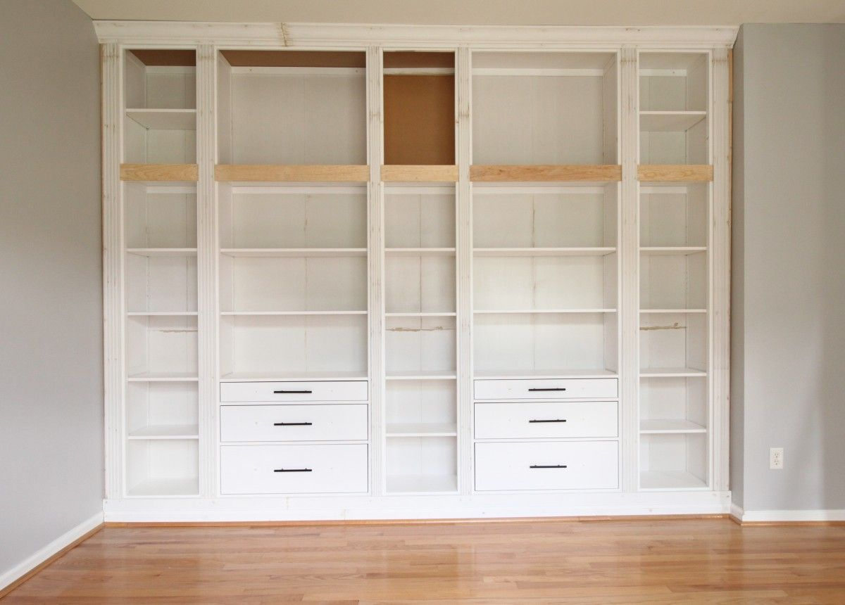 Diy Built In Bookcase Reveal An Ikea Hack Built In Bookcase