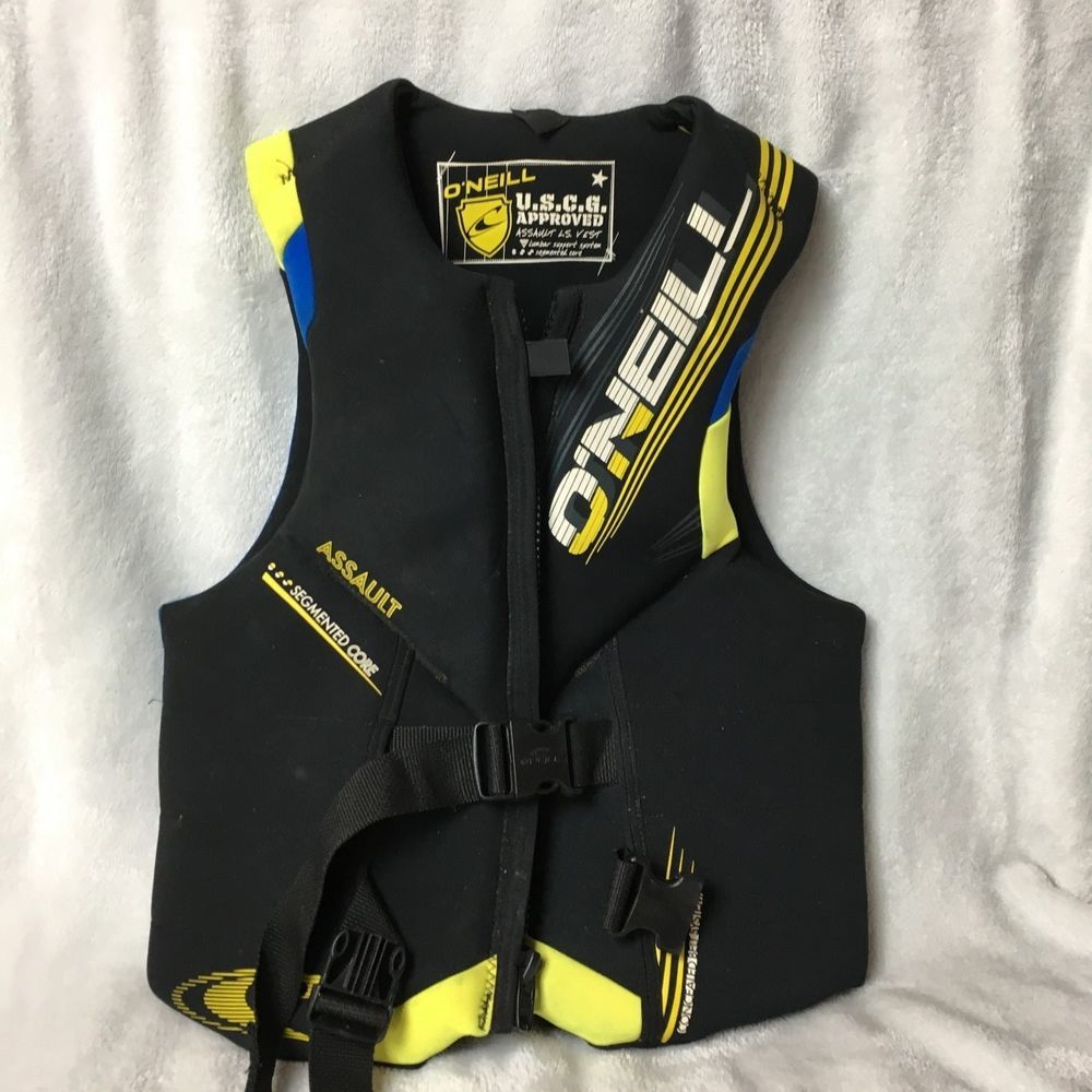 Men S O Neill Assault Water Ski Vest Life Jacket Lumbar Support Neoprene Sz L Mens Vest Jacket Life Jacket Neoprene