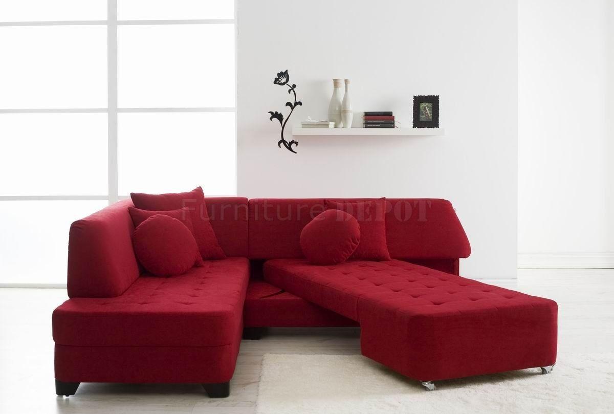 Red Sofa Sleeper Leather