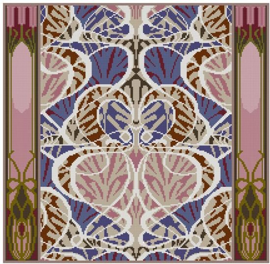 Arts and Crafts textile adaption Beauclair cross by Whoopicat, $4.99