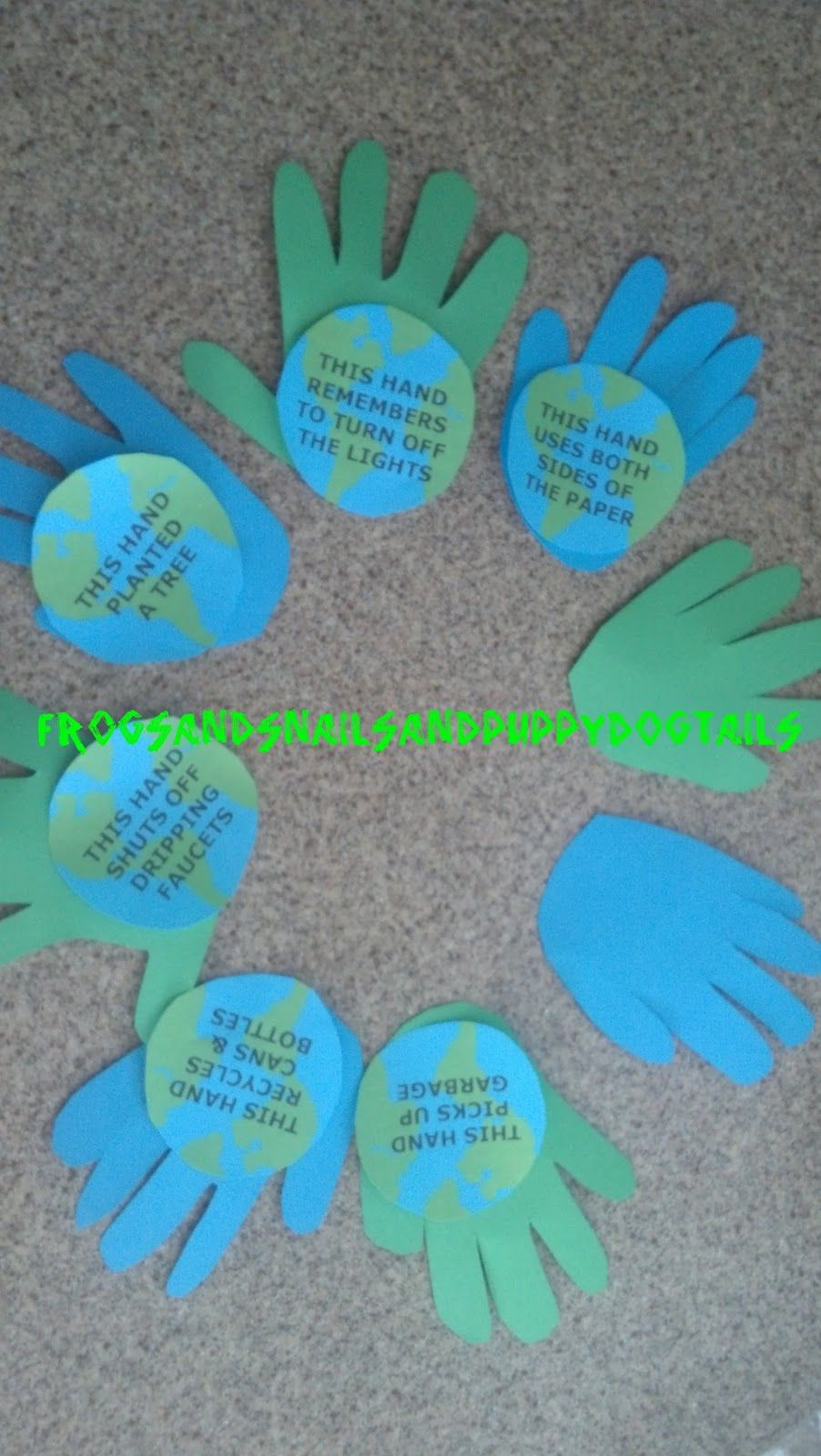 Handprint Wreath for Earth Day-kid craft | Earth day ...