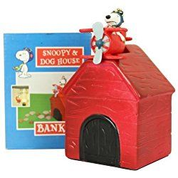 PEANUTS  SNOOPY DOGHOUSE BANK