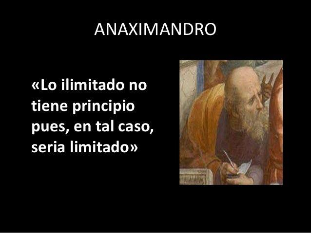 Acertada Frase De Anaximandro Frases Filosoficas