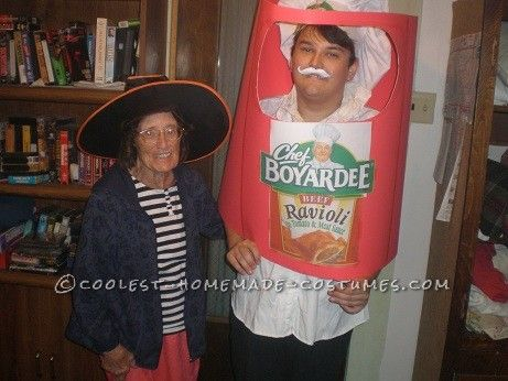 Creative Chef Boyardee Halloween Costume Creative, Halloween - halloween costume ideas for the office