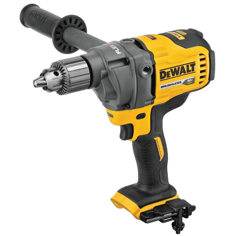 Dewalt Flexvolt 60 Volt Max Cordless Brushless 1 2 In Mixer Drill With E Clutch Tool Only Dcd130b Drill Tools Dewalt Power Tools
