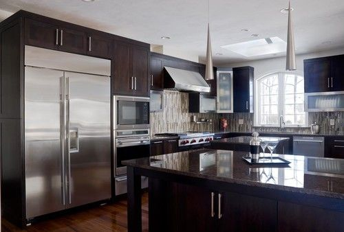 Walnut Contemporary Kitchen   Modern   Kitchen Cabinets   Boston   Scandia  Kitchens Inc.