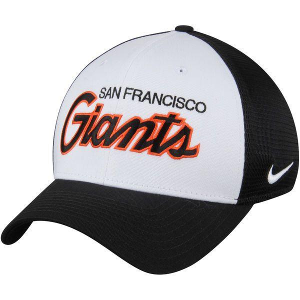 903a1611ff4 Men s San Francisco Giants Nike White Black Local Swoosh Flex Hat ...