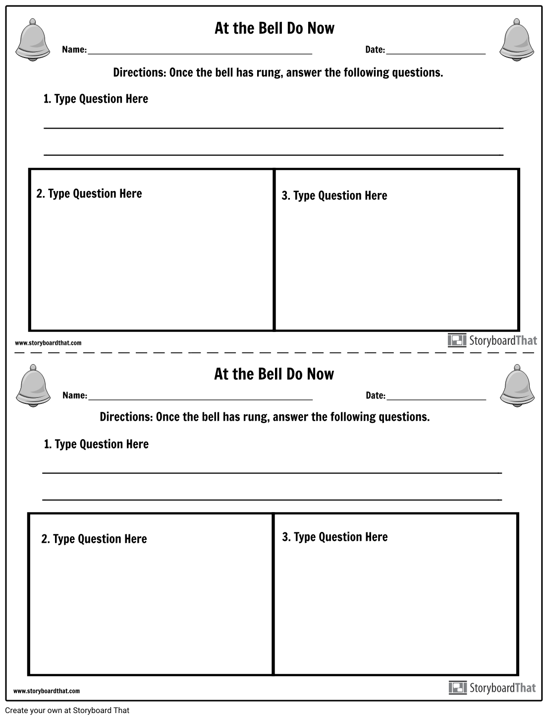 Create Bell Ringer worksheets for all grades and subjects. Get started with  templates that can be cus…   Elementary teaching resources [ 1449 x 1106 Pixel ]