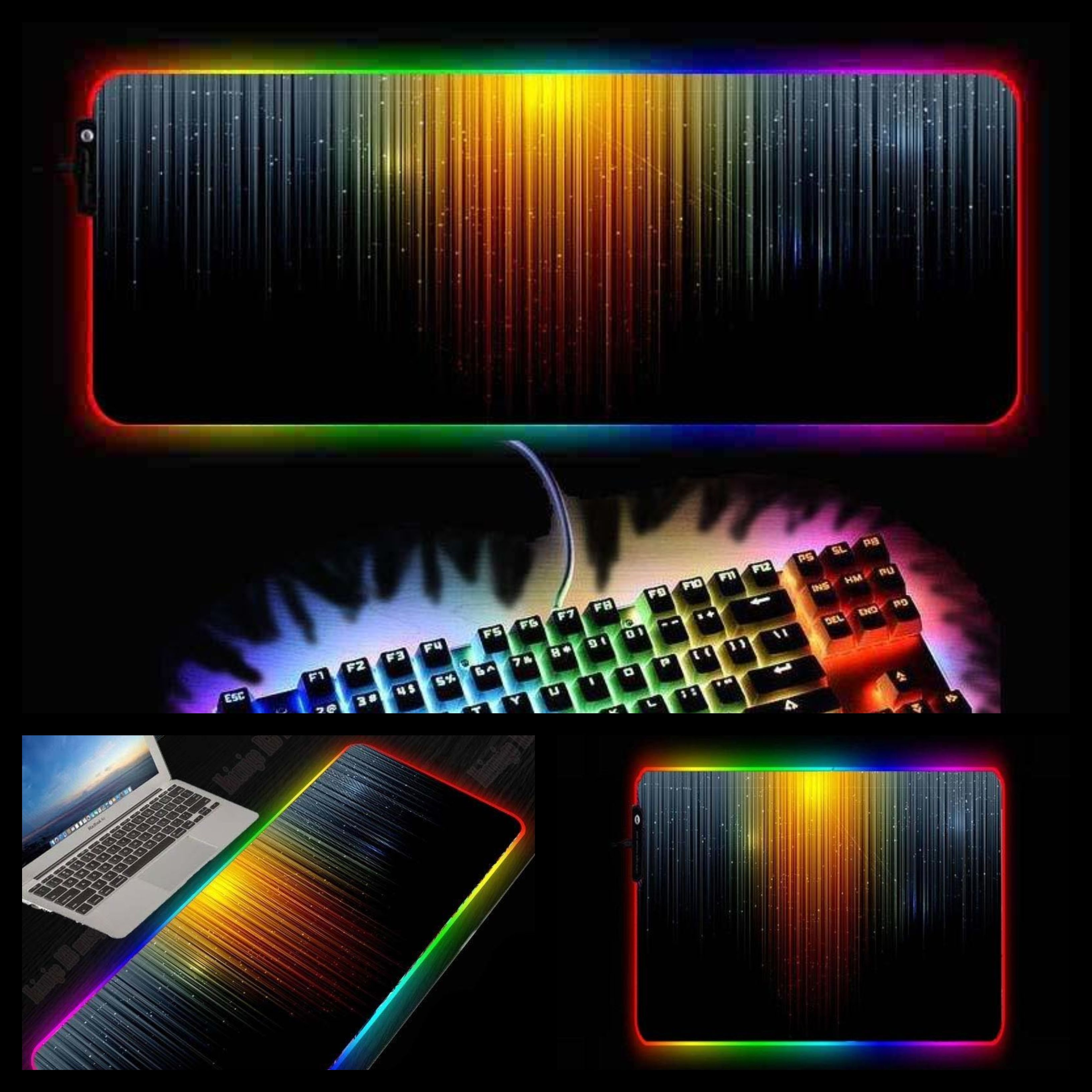 Abstract designs rgb large mouse pad in 2020 abstract