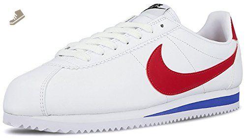 Nike Women's Classic Cortez Leather White/Varsity Red Casual Shoe 6 Women  US - Nike