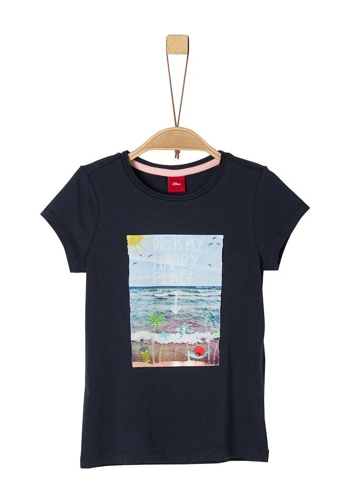 S Oliver Junior T Shirt Madchen Nachtblau Mischfarben Grosse 104 In 2020 Mischfarben Shirts Und Nachtblau