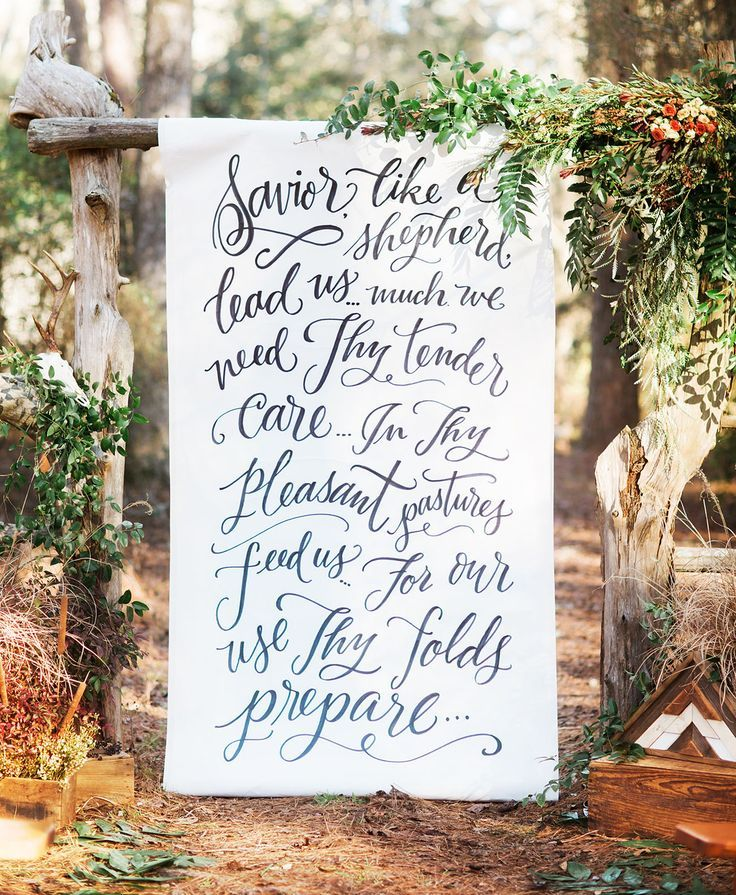 Magical Wedding Backdrop Ideas: Rustic-Meets-Elegant Wedding Inspiration