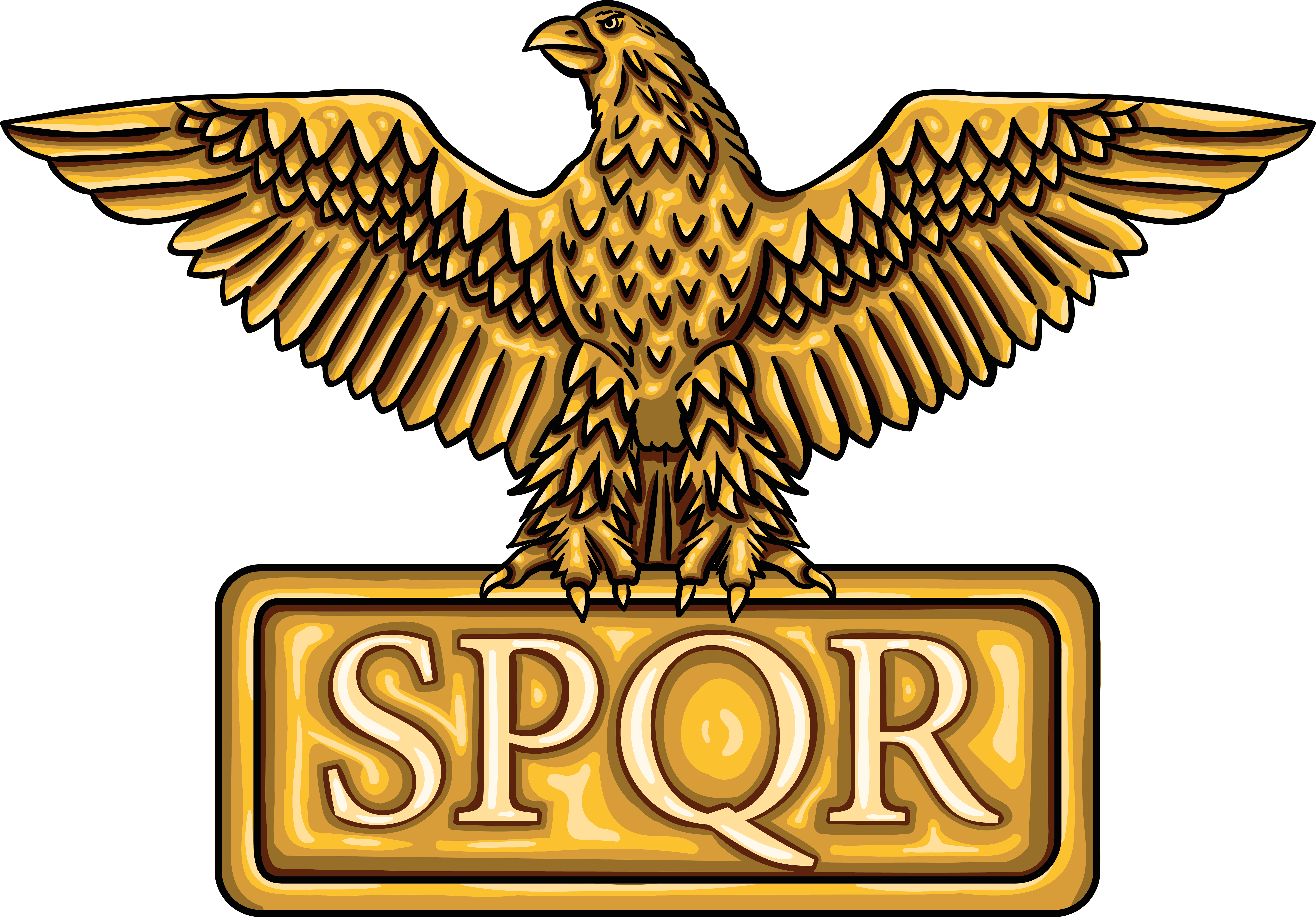 Golden Emblem Of Roman Empire Spqr Essential T Shirt By Lobro In 2021 Roman Empire Roman Roman Centurion