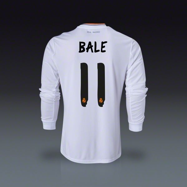 online store c5ee1 aa72d adidas Gareth Bale Real Madrid Long Sleeve Home Jersey 13/14 ...