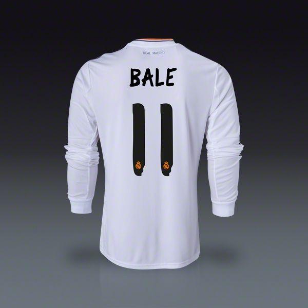 6e5e33196 adidas Gareth Bale Real Madrid Long Sleeve Home Jersey 13 14