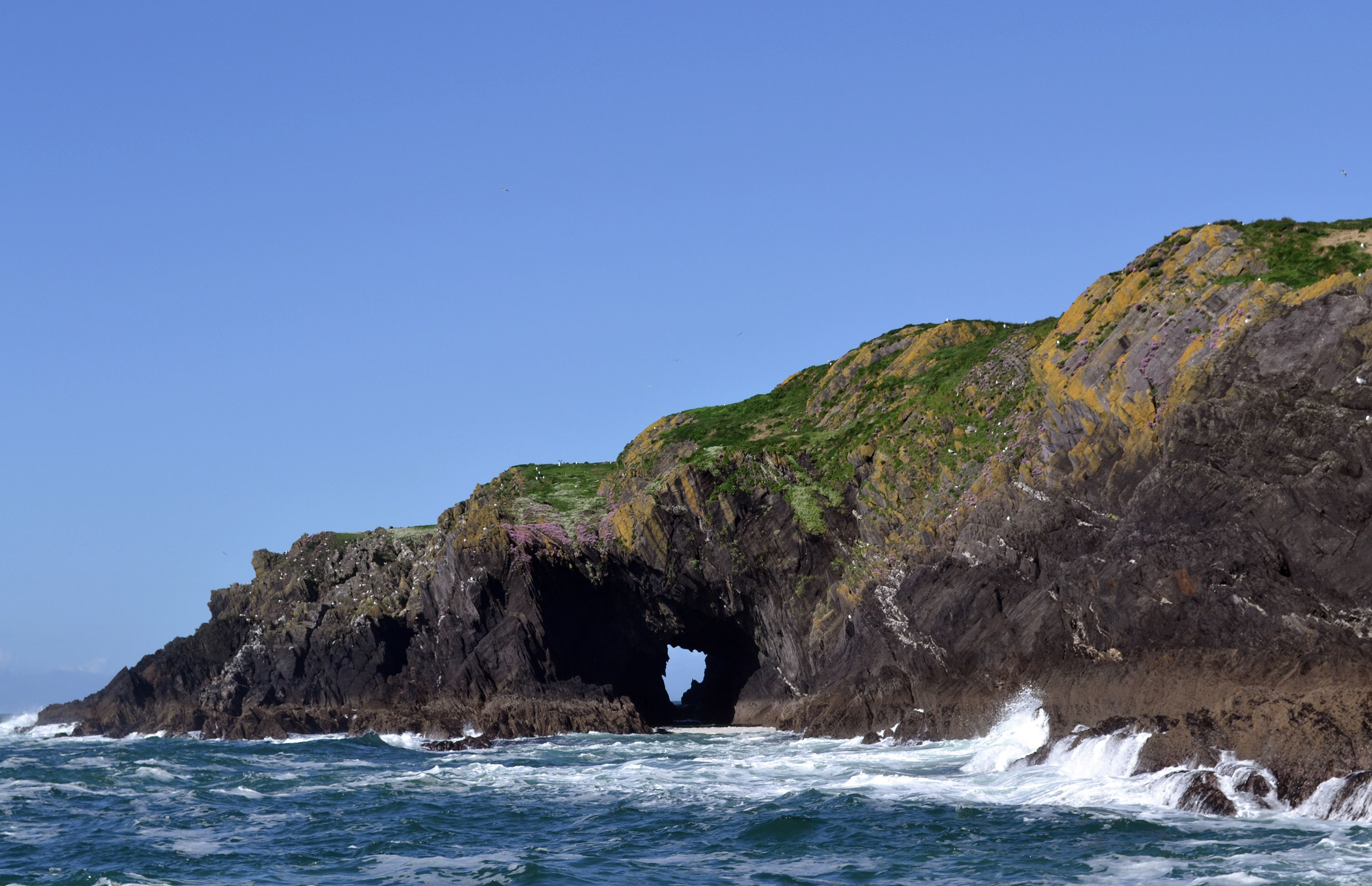 Sea Arch on Island off Co. Cork Ireland (3000  1939)