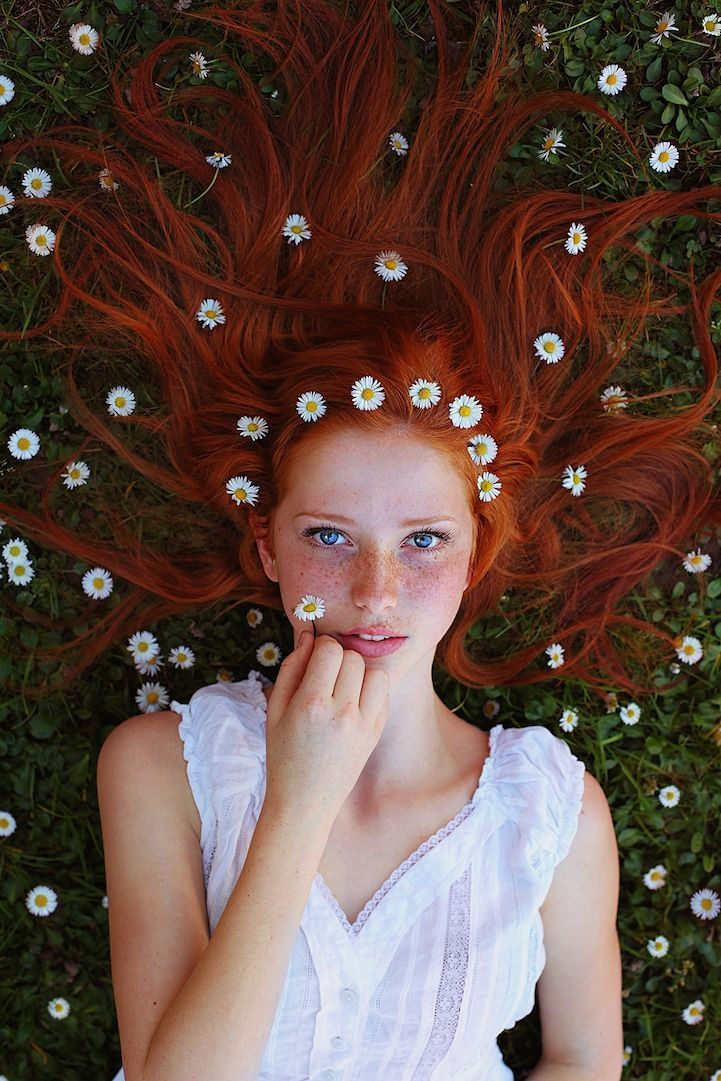 Striking Portraits of Gorgeously Freckled Redheads by Maja Topcagic