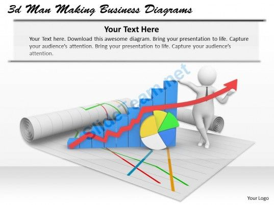 1013 3D Man Making Business Diagrams Ppt Graphics Icons Powerpoint #Powerpoint #Templates #Infographics