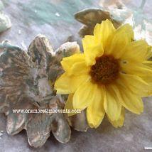 How to make Plaster of Paris Flowers using Silks