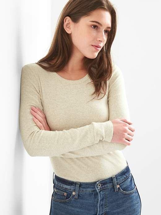 aee715ed578a Modern Long Sleeve Crewneck T-Shirt | Products | Long sleeve, Women ...
