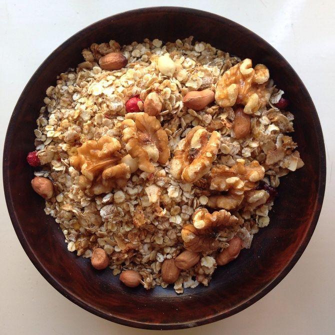 Vaahterasiirappinen granola - Soppa 365