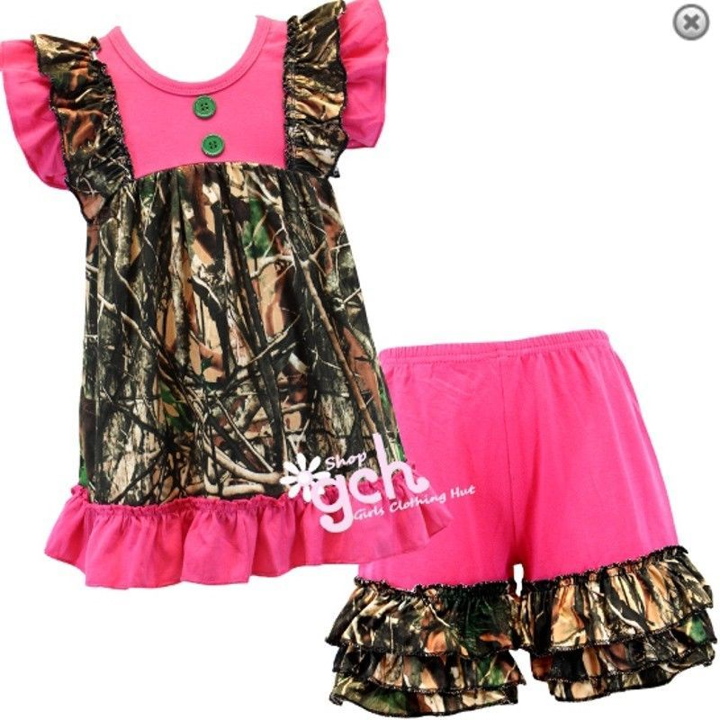 c936305a36643 Pink Camo Camouflage Shorts Outfit gch size 3m 6m 12m 18m 2 3 4 5 6 7 8 10  12 14 #Unbranded #EasterChurchEverydayHoliday