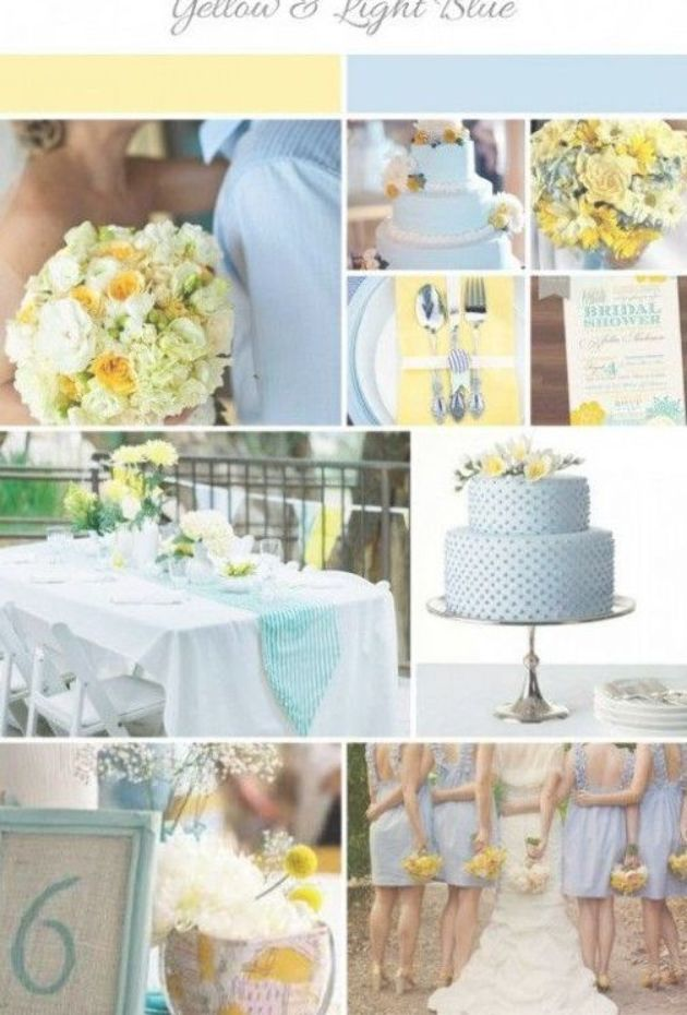 Fun Summer Wedding Colors: Light Blue and Yellow | Wedding, Summer and Inspiration