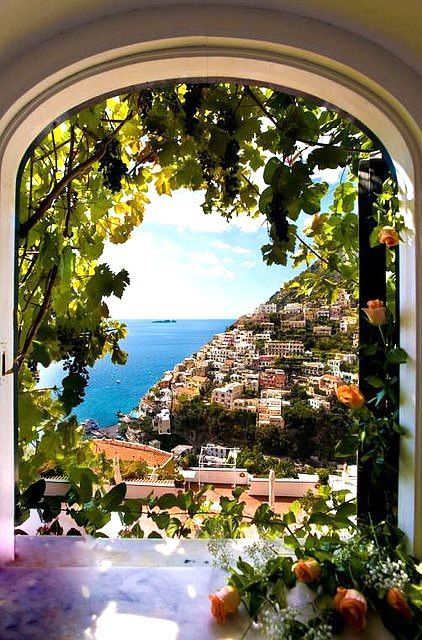 Looking out your window in Italy.