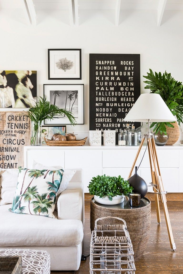 Design ideas to make every room in your house prettier add plenty of green house plants and throw in some patterned pillows