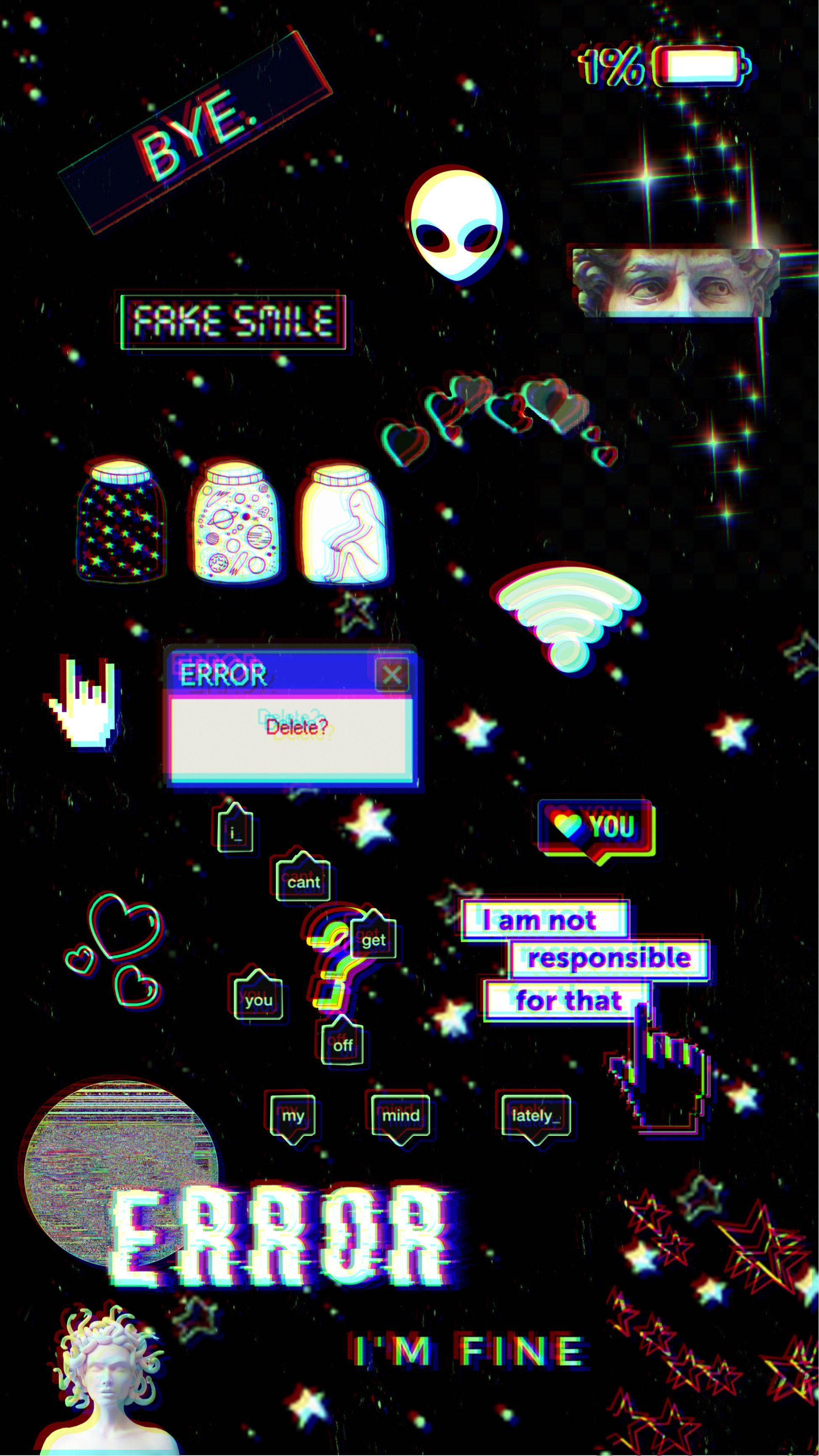 Messy Glitch Phone Wallpaper #MadeWithPicsArt
