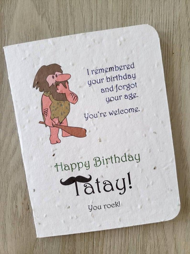 Tatay Birthday Card Filipino Dad Birthday Card For Dad Grandpa Card That Grows Carrots Tomatoes Tri Herb Wildflowers Dad Birthday Card Birthday Cards Dad Birthday