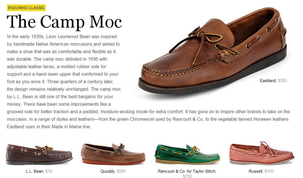dffe0950414a A quick guide to the camp moc. Male Fashion Advice