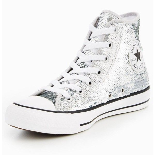 Converse Ctas Sequin Hi Tops ($81) ❤ liked on Polyvore