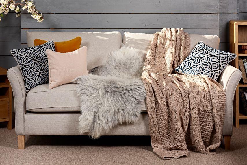 Sheepskin Throw For Sofa Luxurious Rugs