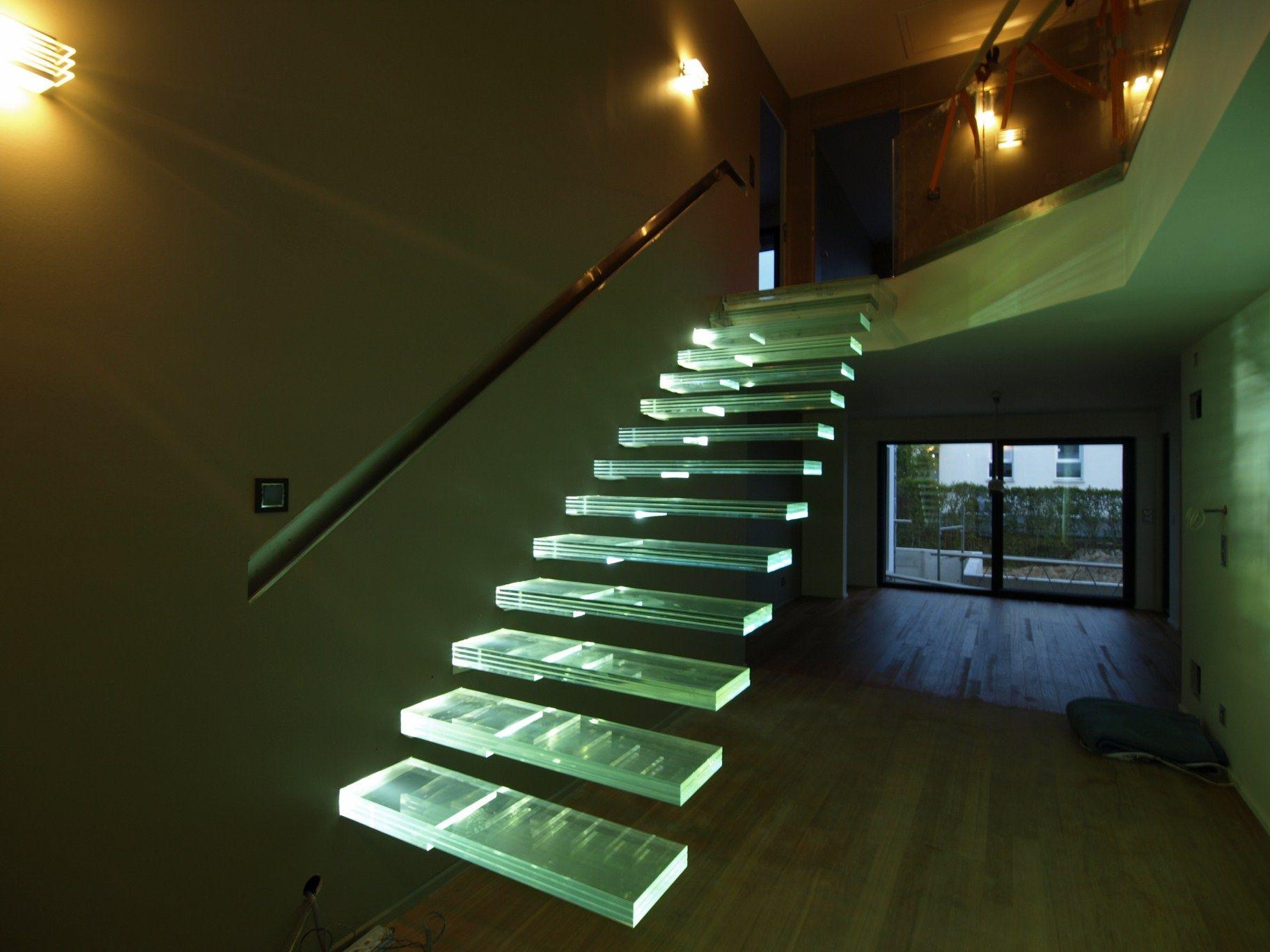 Marches d\'escalier en Verre feuilleté Trempé Classica Extra-Clair ...