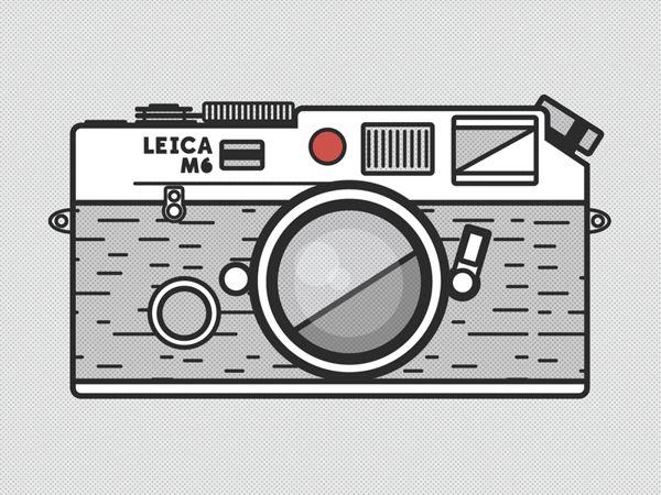 Le Leica M6, illustration de Zachary VanDeHey. #leica #photographie