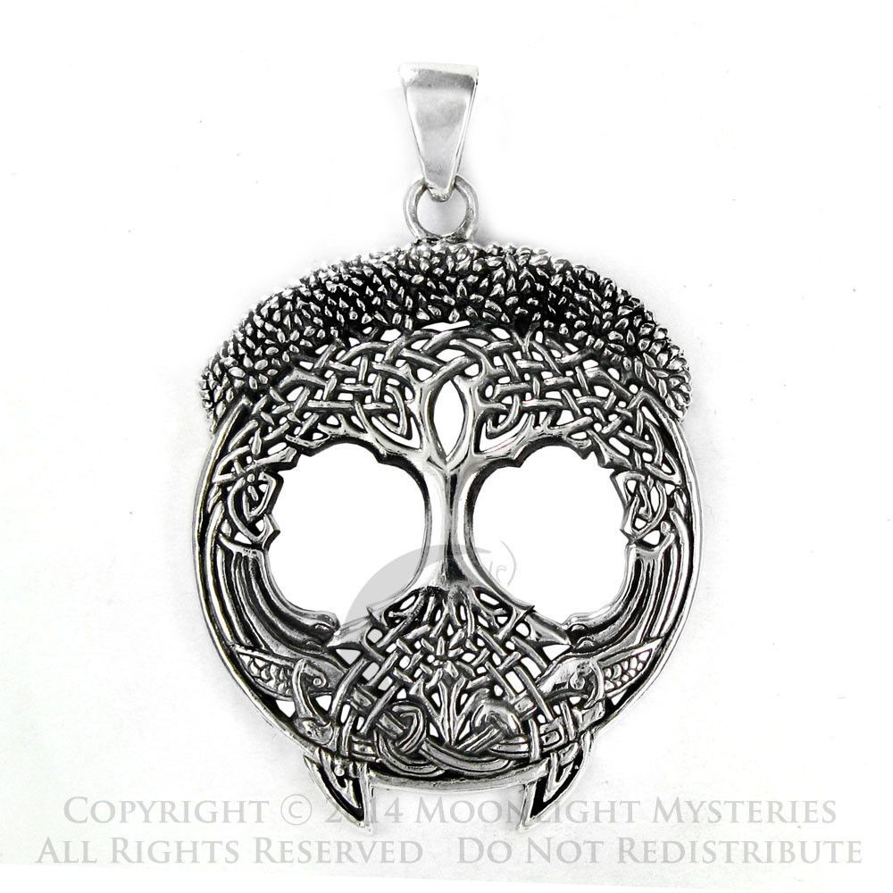Sterling Silver Tree of Life Celtic Knot Pendant Knotwork Jewelry