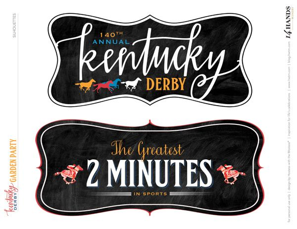 It's just a picture of Rare Kentucky Derby Printables