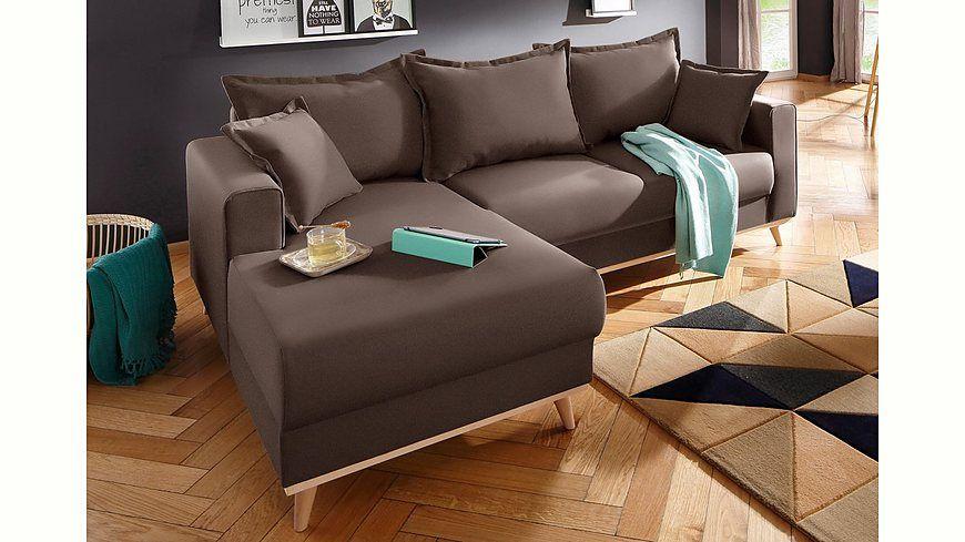 Home affaire Ecksofa »Edina«, im skandinavischem Stil Jetzt - wohnzimmer lila braun