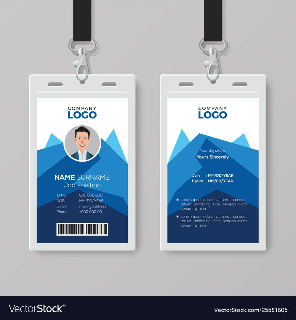The Amazing 017 Free Identification Card Templates Template Ideas Inside Portrait Id Card Template Image Below Id Card Template Employee Id Card Employees Card